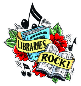 Books with Libraries Rock banner